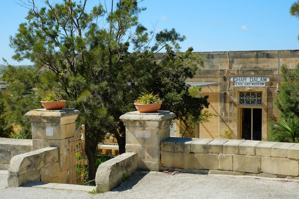 entrance to Għar Dalam caves and museum