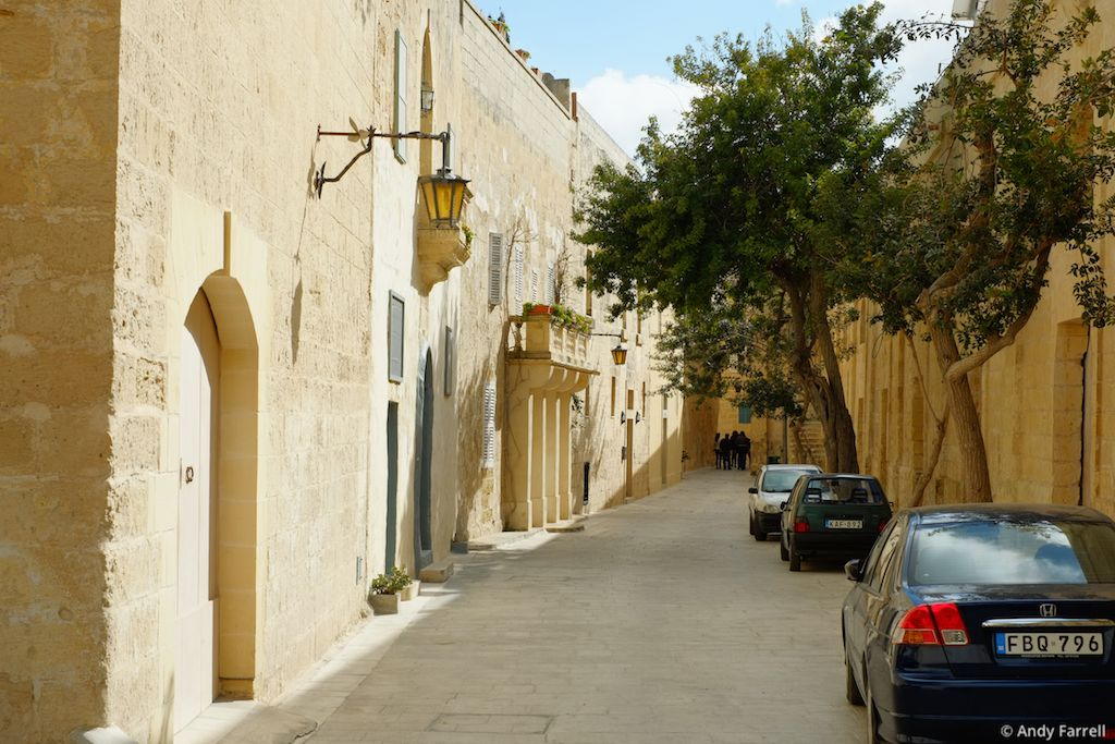 cars parked in Mdina
