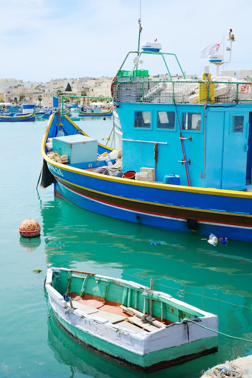 fishing boats in Marsaxlokk