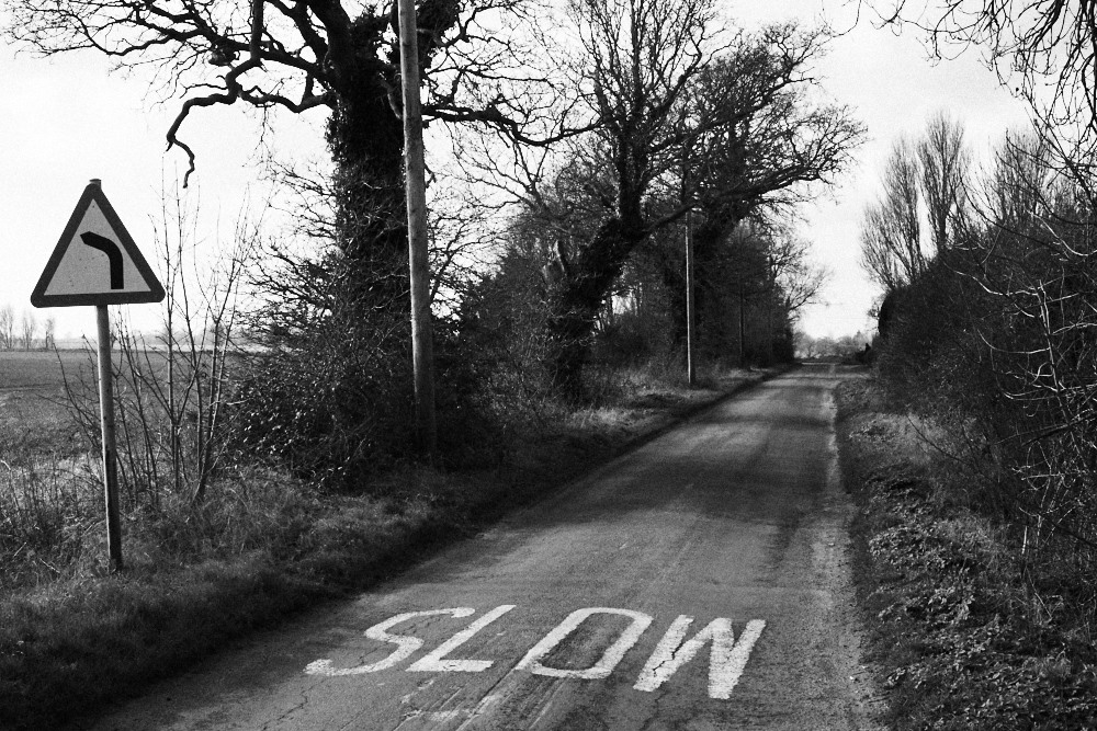 slow country lane