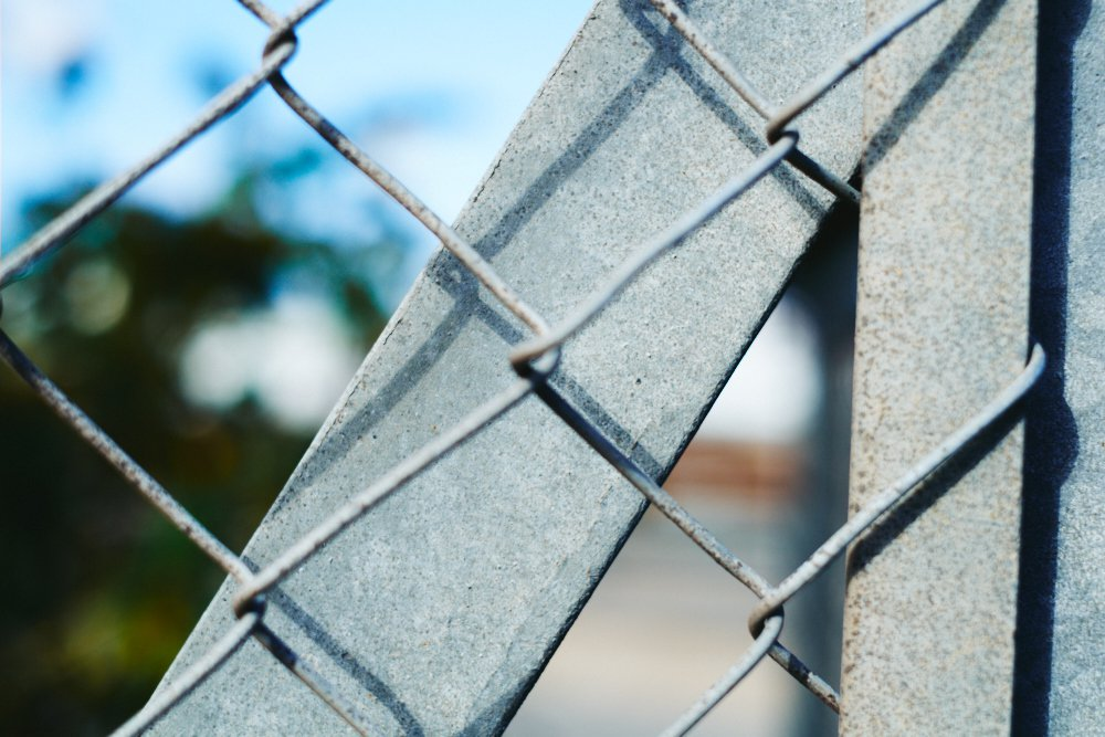 chainlink fence closeup