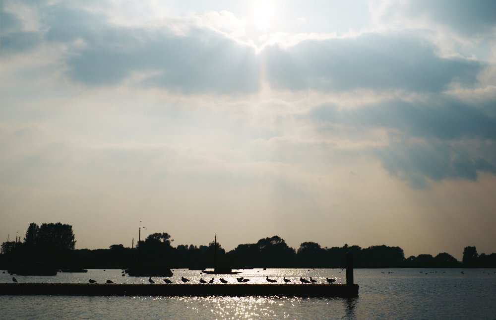 sunbeams over Oulton Broad