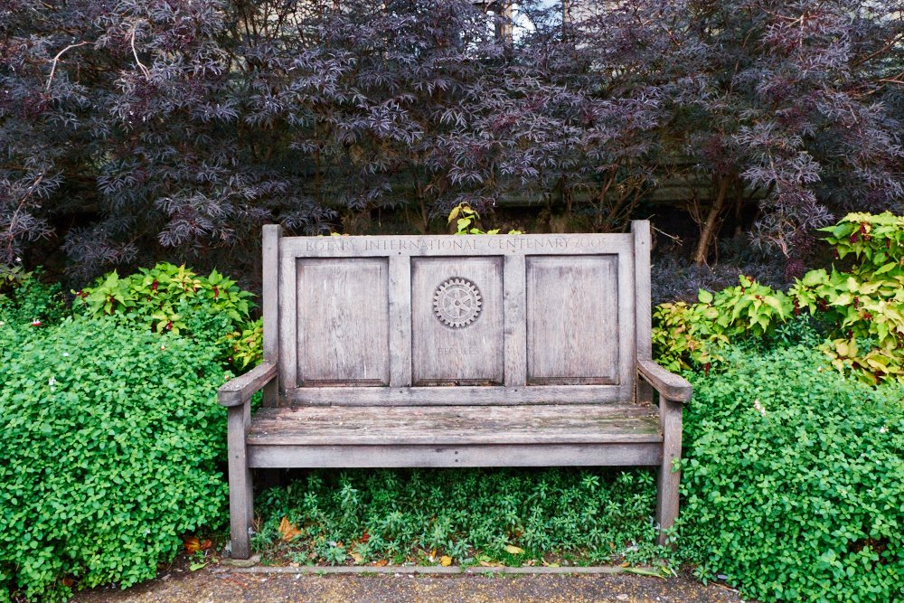 Rotary Club commemorative bench