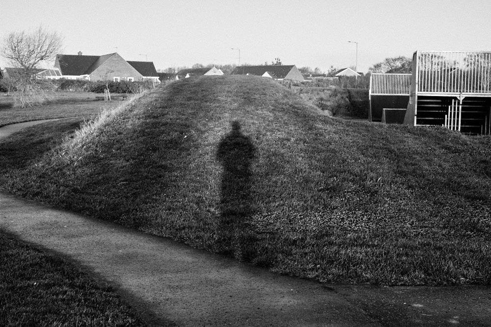 my shadow on a mound