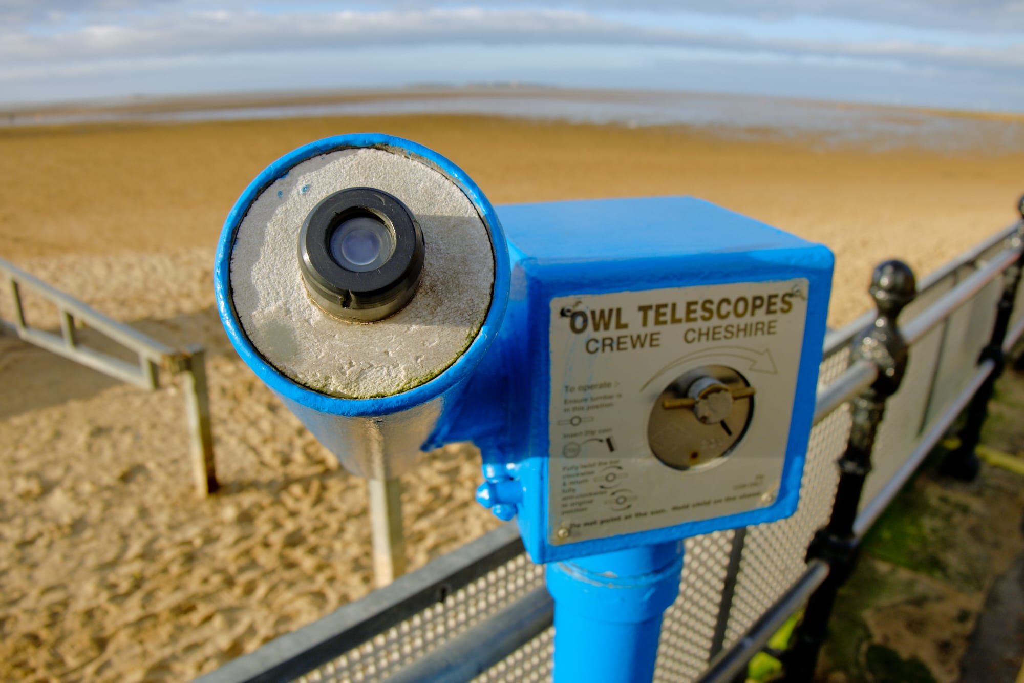 telescope by the beach at West Kirby