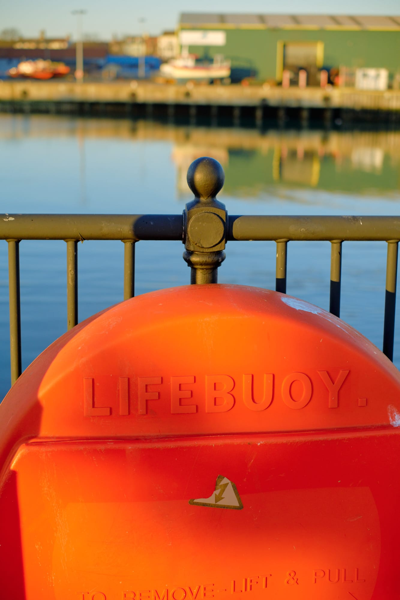 life buoy near Asda carpark