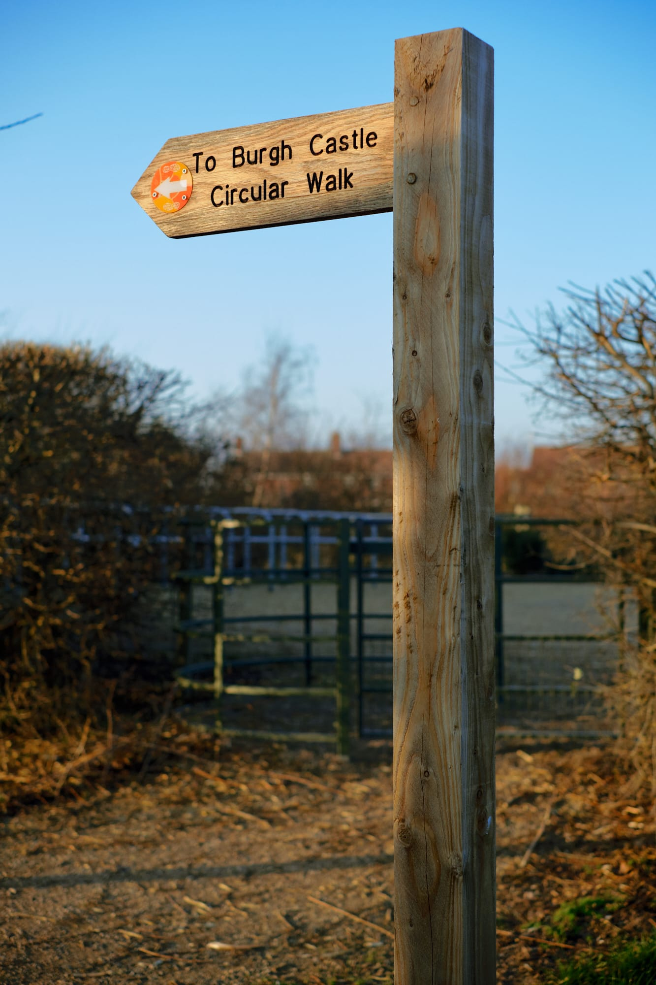 Castle walk sign