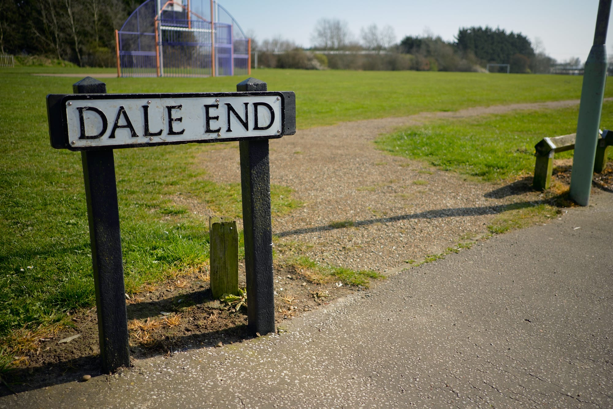 Dale End road sign