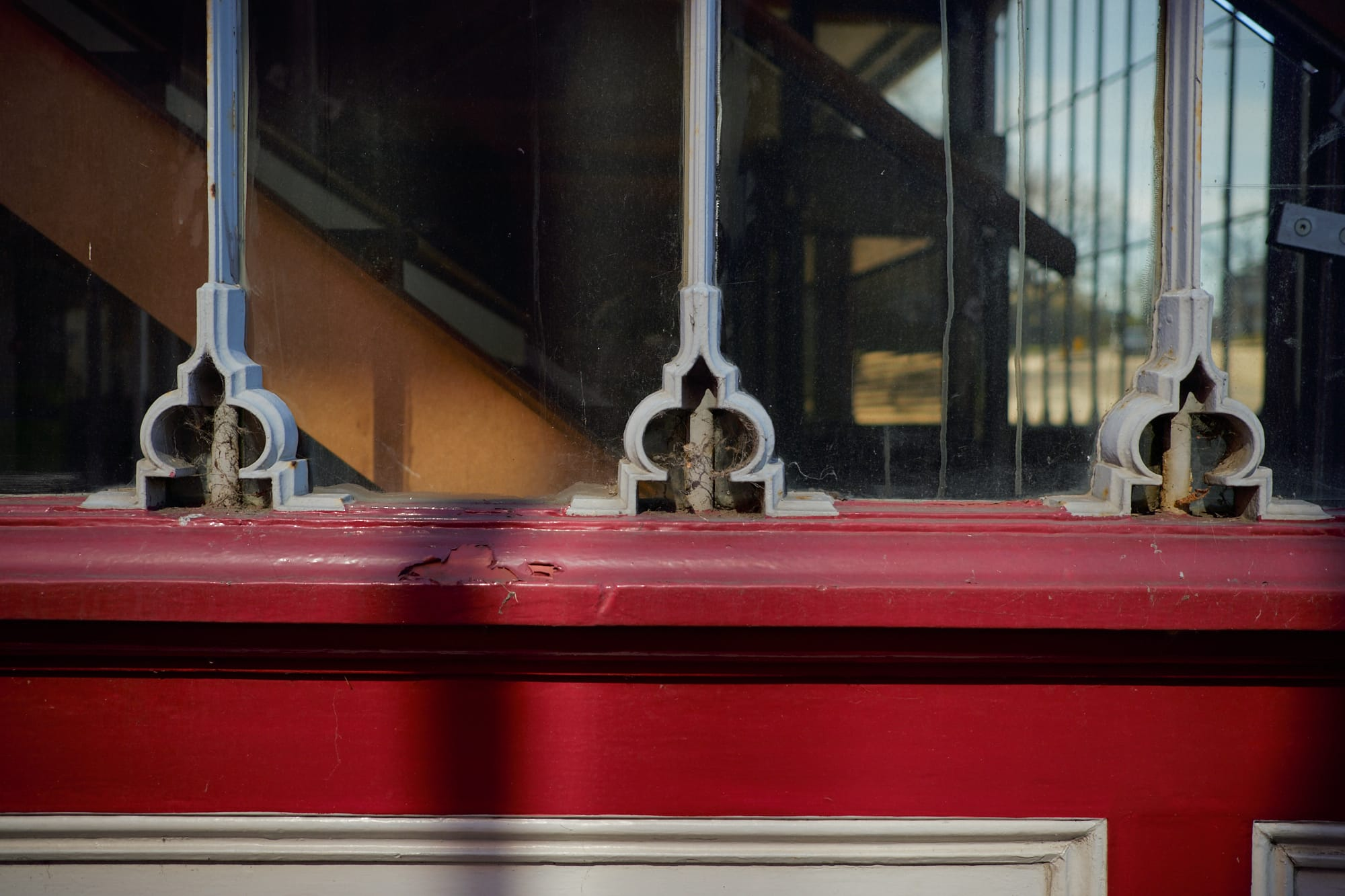 close view of pub window