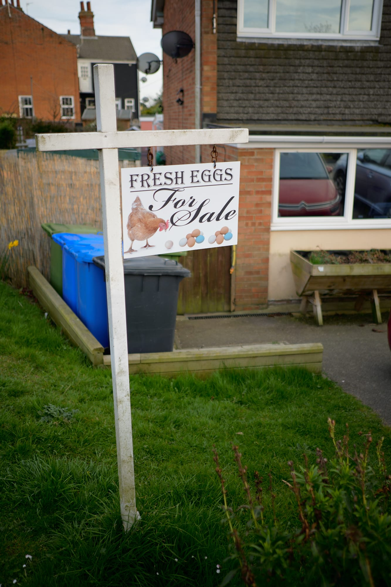 'Fresh Eggs' sign