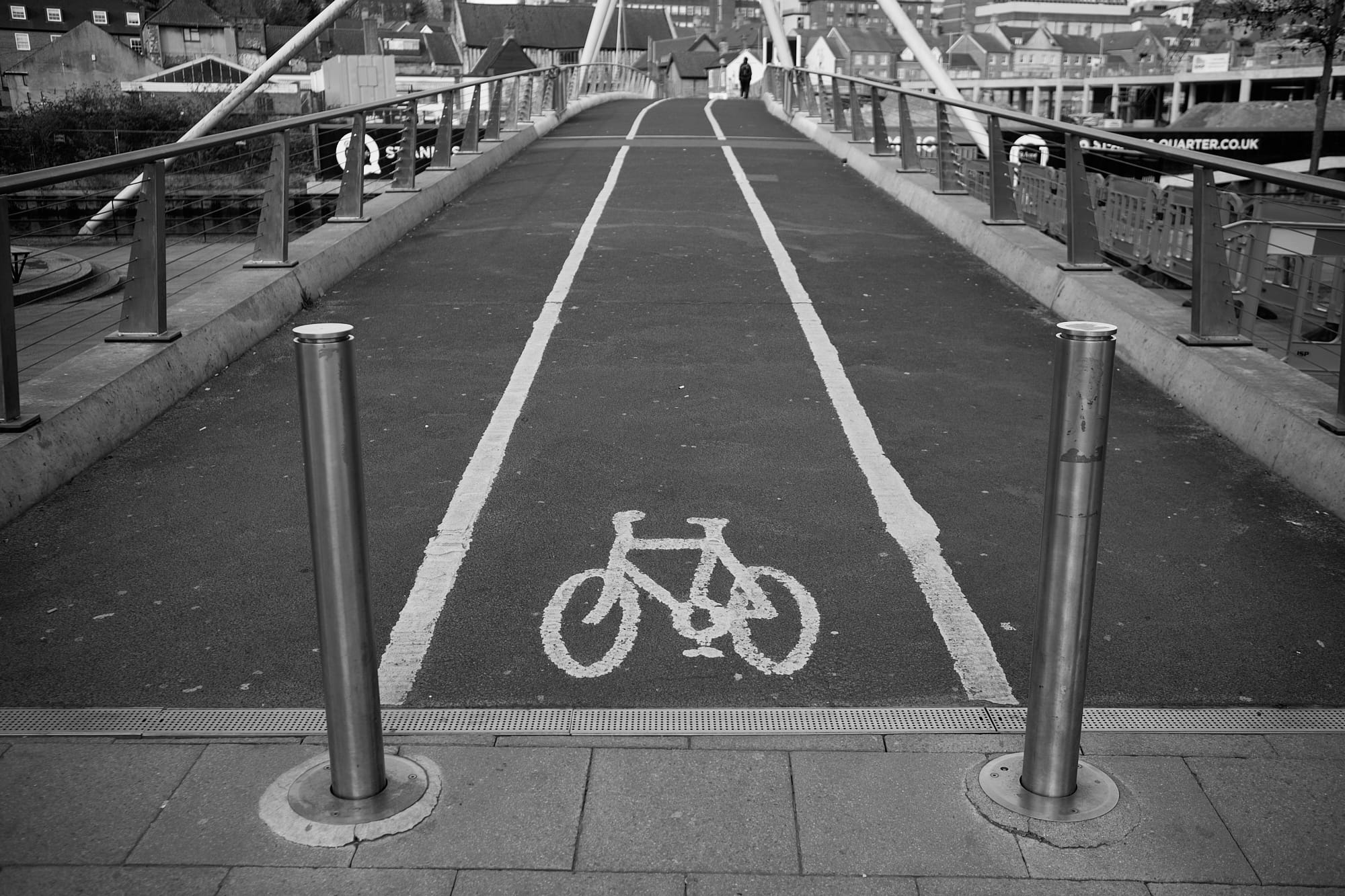 cycle path over foot bridge