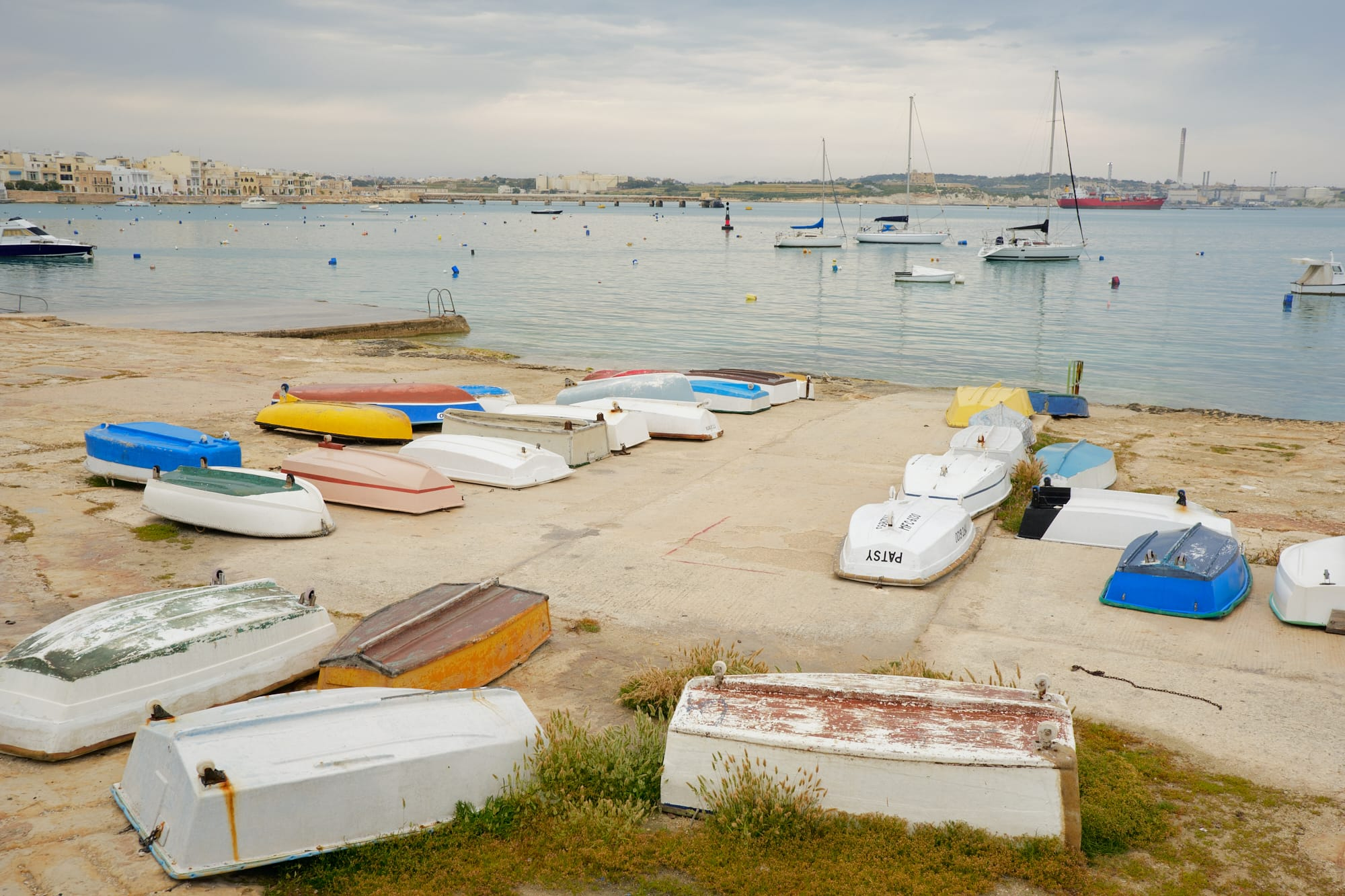 boats on the shore of Pretty Bay