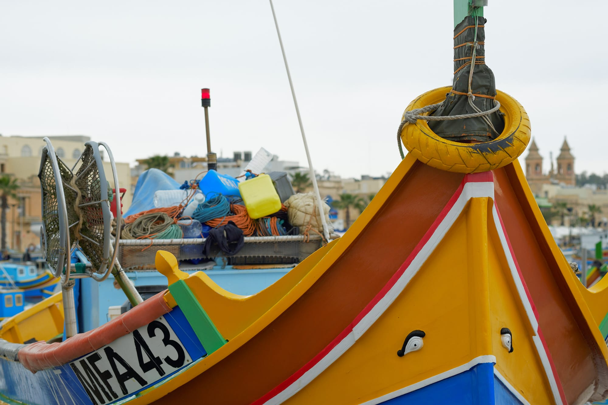 colourful boat prow
