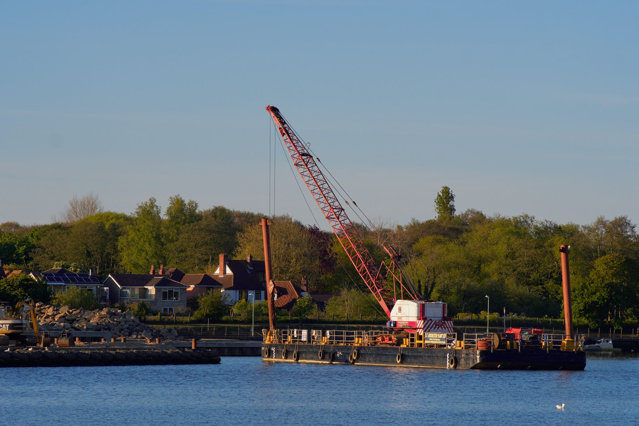crane on a barge