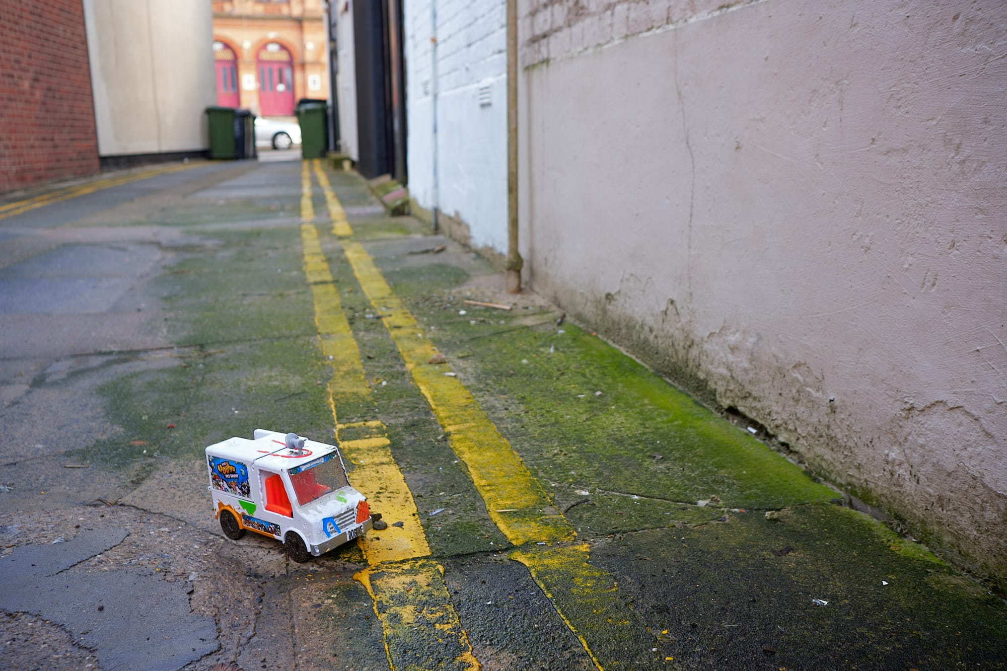 lonely toy van