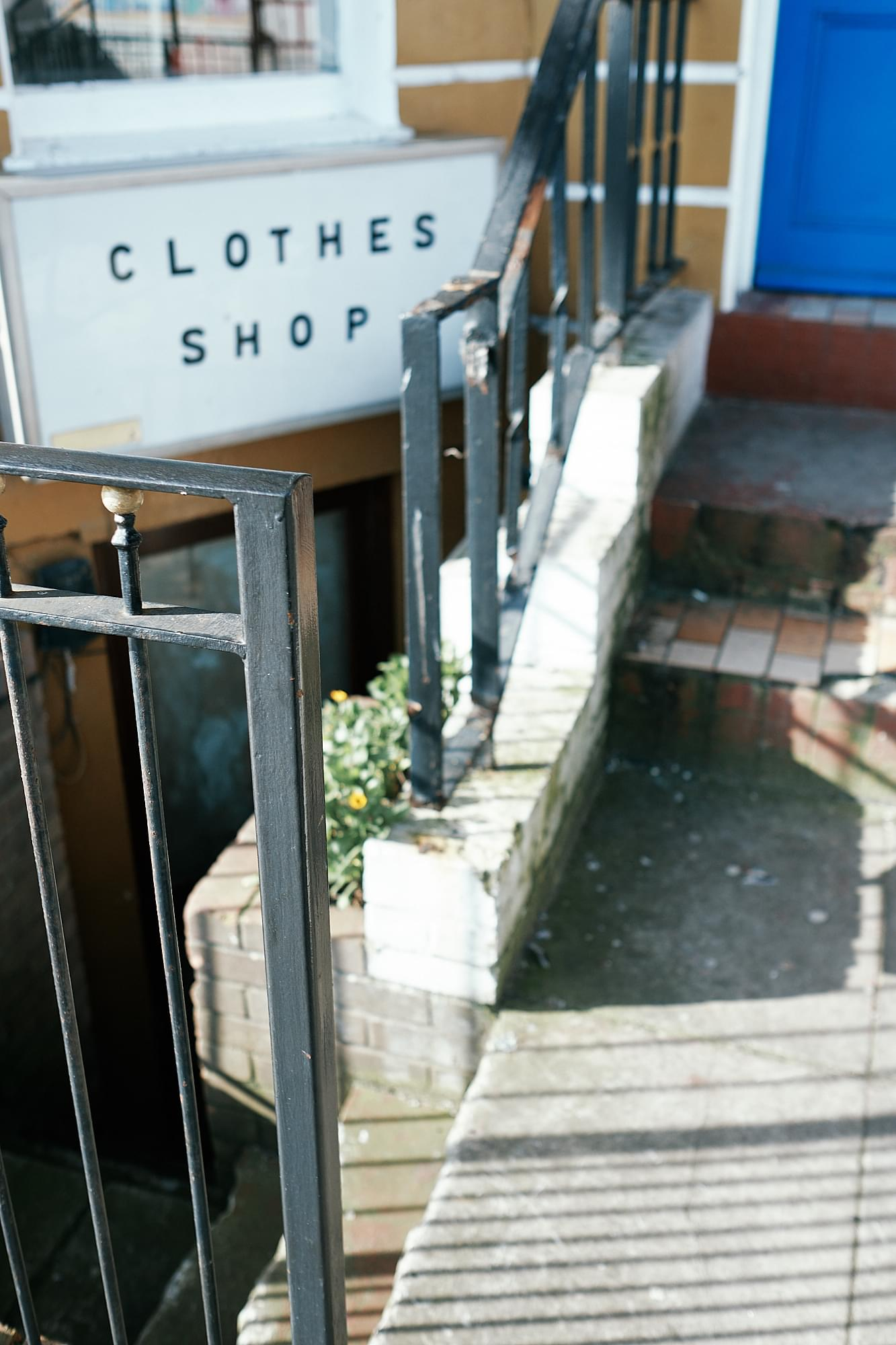 downstairs clothes shop
